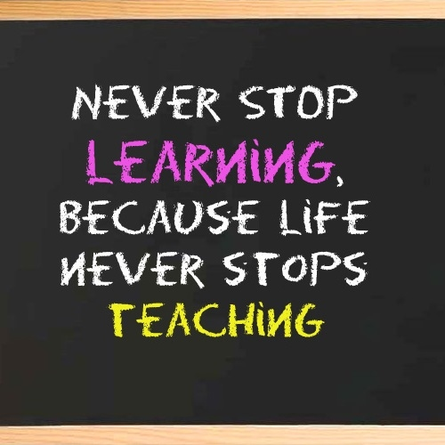Learning Is A Lifelong Process