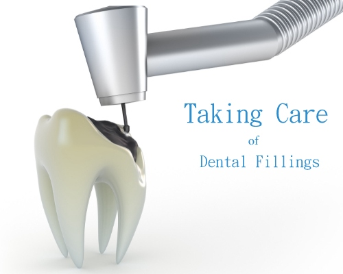white dental filling